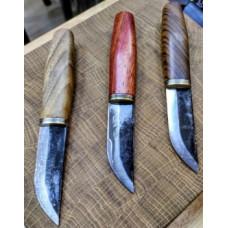 Нож 80CrV2 LAURI Skinner 90 мм (Фінляндія), чохол шкіра та руківья дерево (Україна)