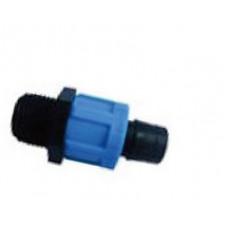 Муфта наружная резьба для ленты Santehplast Drip Tape, Dn17х3/4(MHP17x3/4)